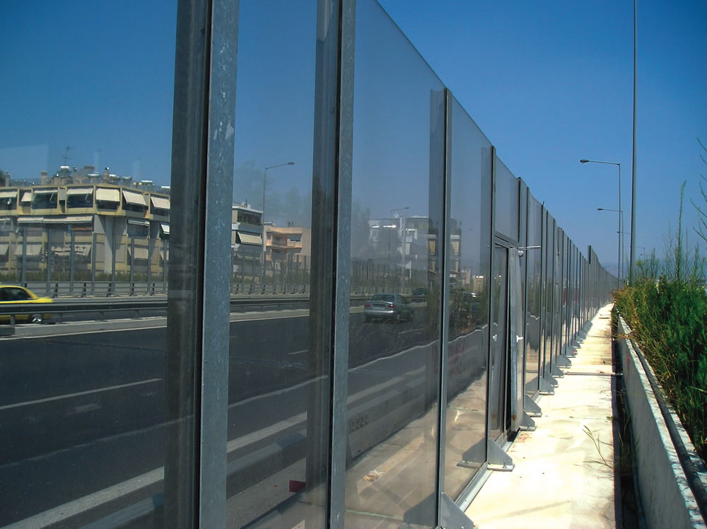 Transparent Noise Barrier Alphafon Tb Architectural