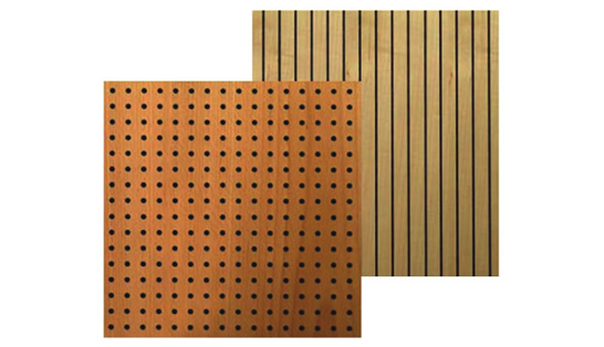 Multiple form wooden acoustic panels