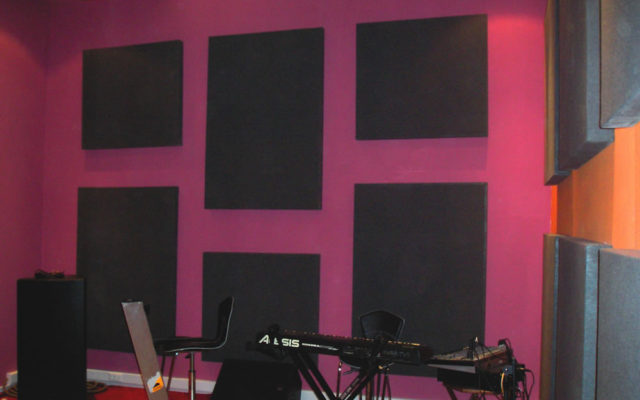 acoustic panels in live room