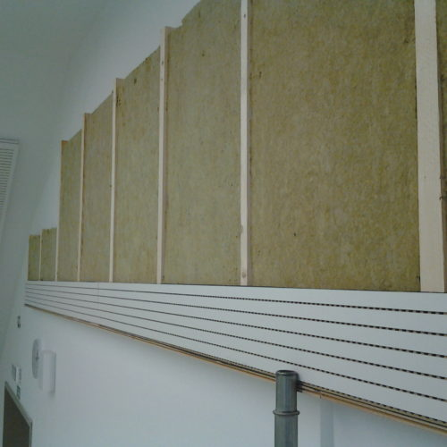 sound proofing with perforated panels
