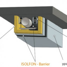 Vinyl barrier isolfon soundproofing material vibration for Best sound barrier insulation