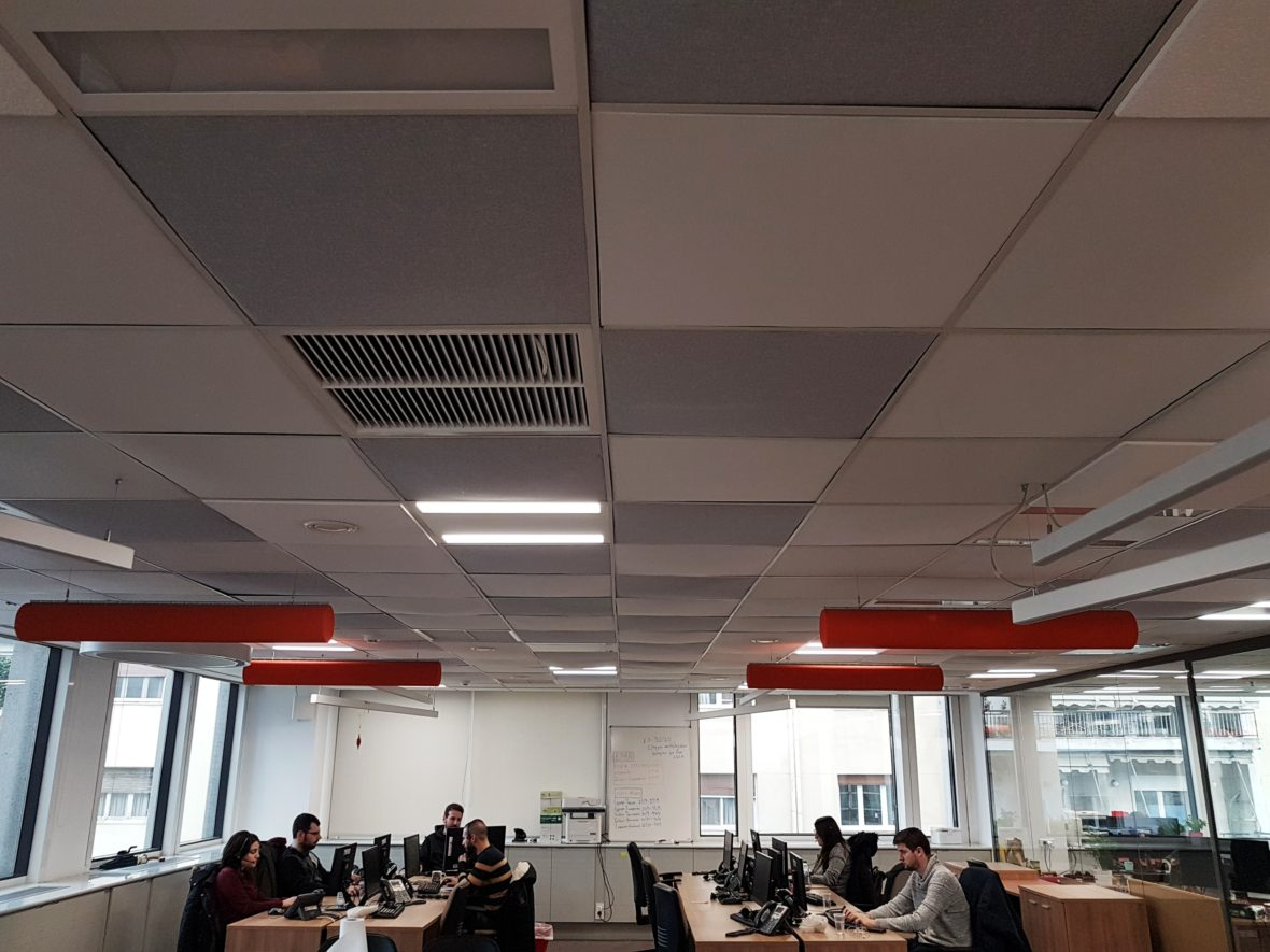 Offices sound absorption