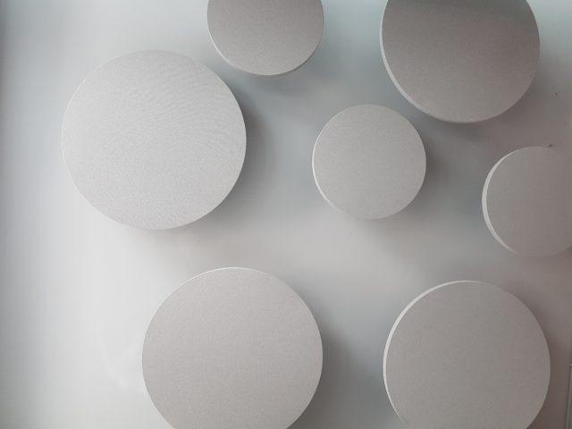 Circular acoustic panel