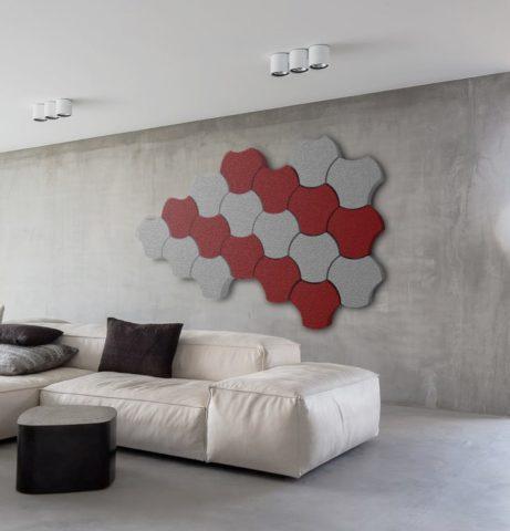 Puzzle form acoustic panel