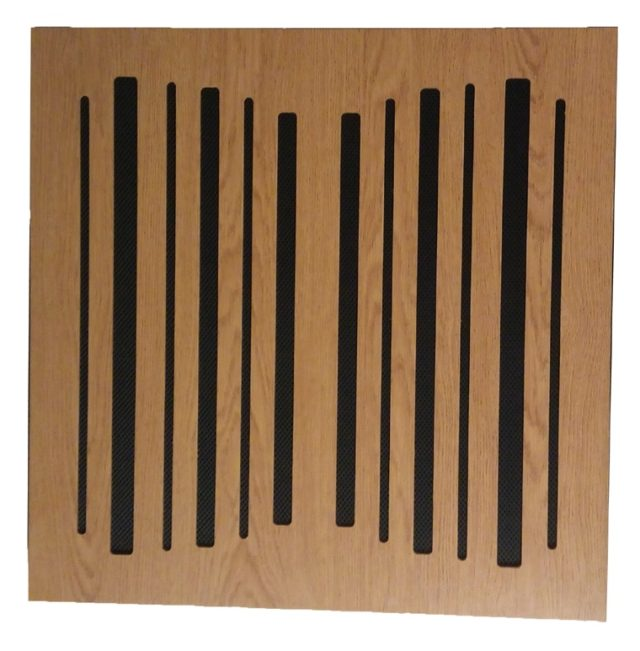 Acoustic wooden slot panel
