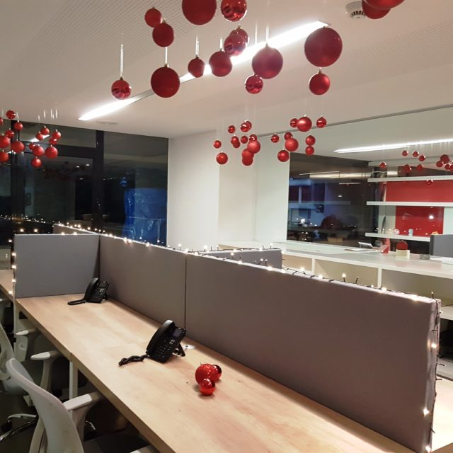 Christmas at workspace
