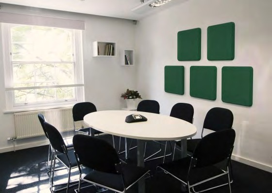 Curved rectangular acoustic panels: ALPHAcoustic-AP.Tondo