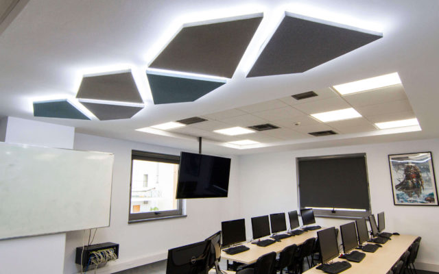 Acoustic panel with lighting system