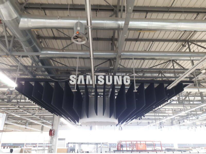 ακουστική οροφή εμπορικό κέντρο