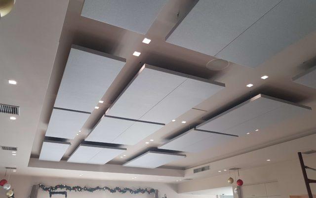 Ceiling Panels for restaurant acoustic treatment