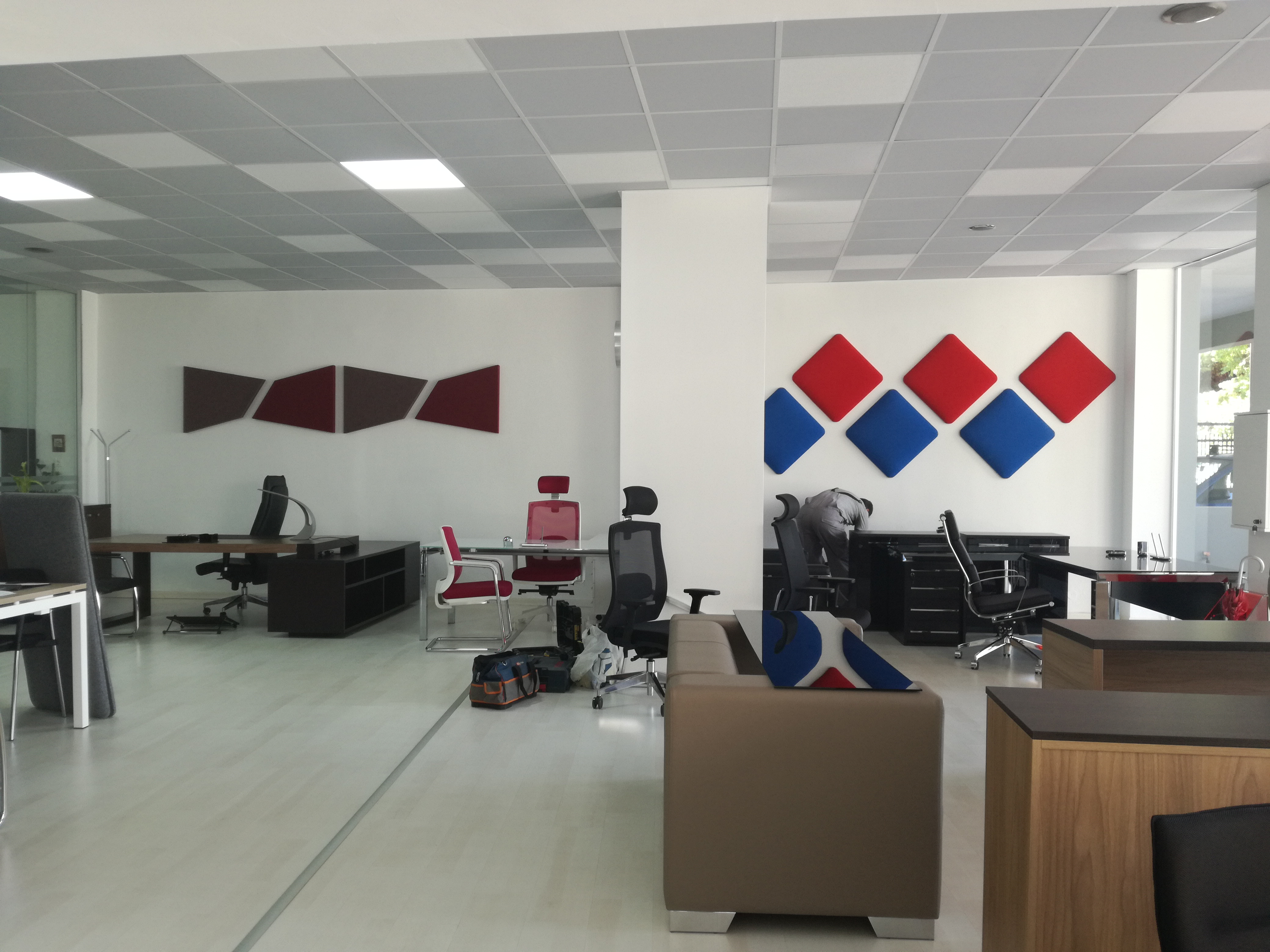 acoustic panels in office