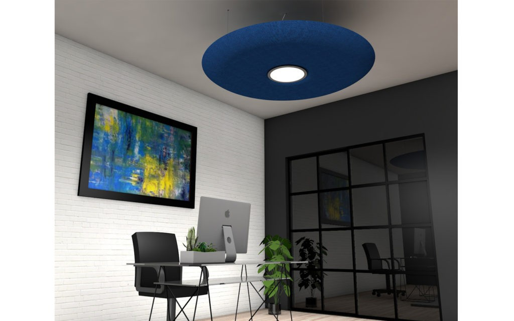 circular acoustic cloud with led light