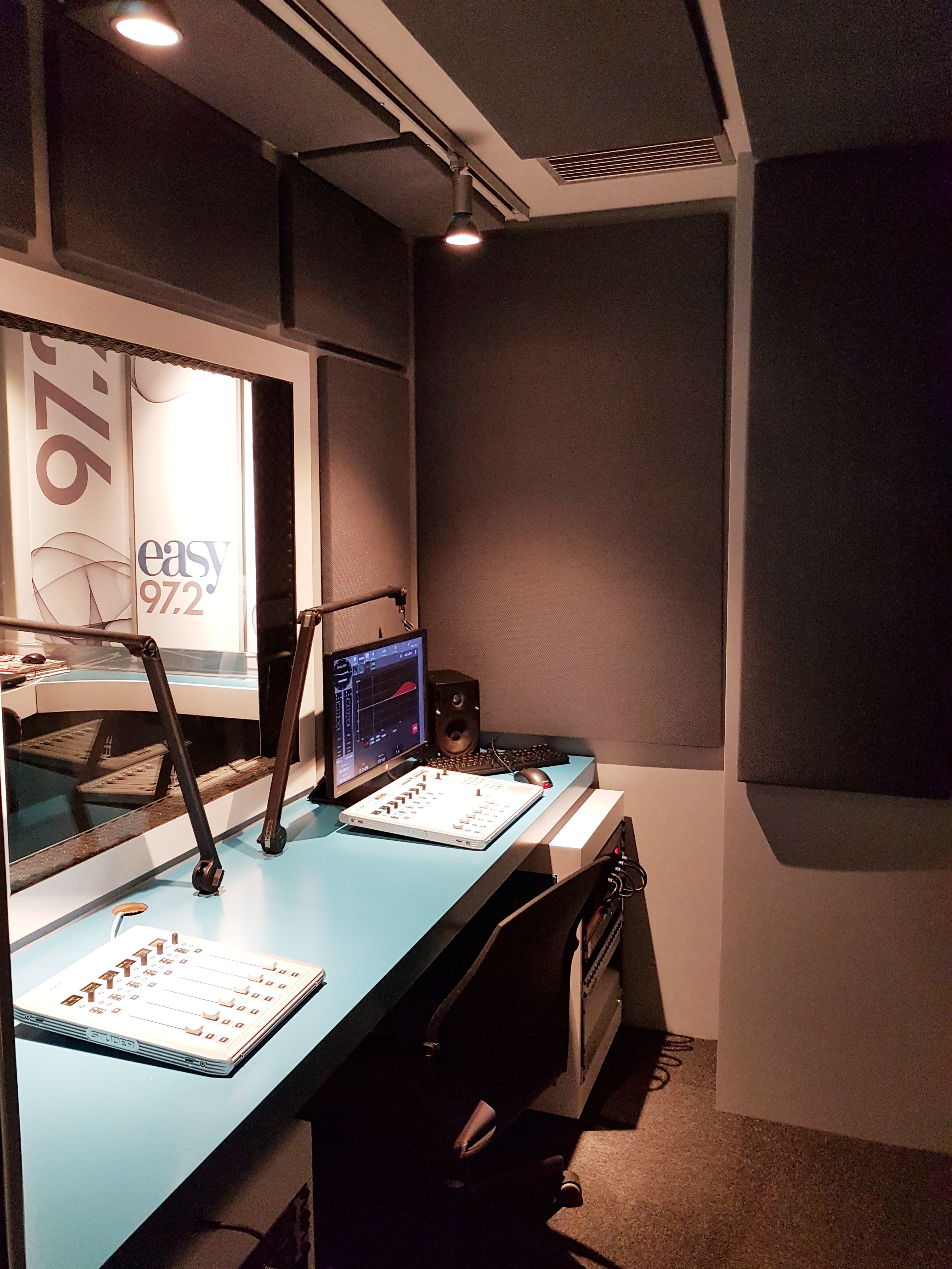 acoustic panels in studio