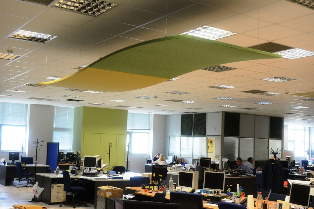 sound-absorbing ceiling cloud
