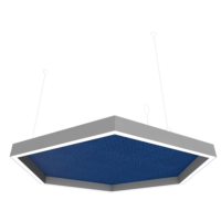 polygonal ceiling acoustic cloud with perimetric light