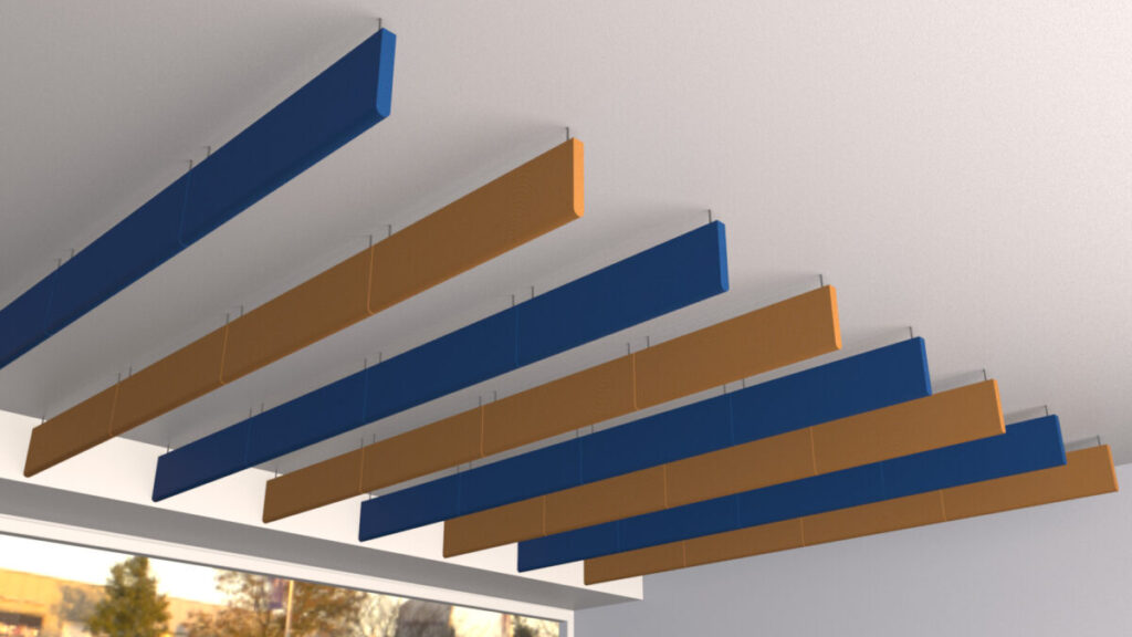ceiling acoustic baffles - sound absorptive