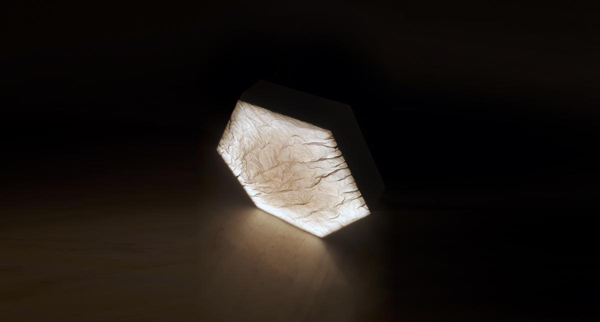 εξάγωνο με φως