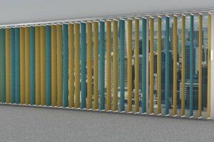 woollen acoustic window blinds