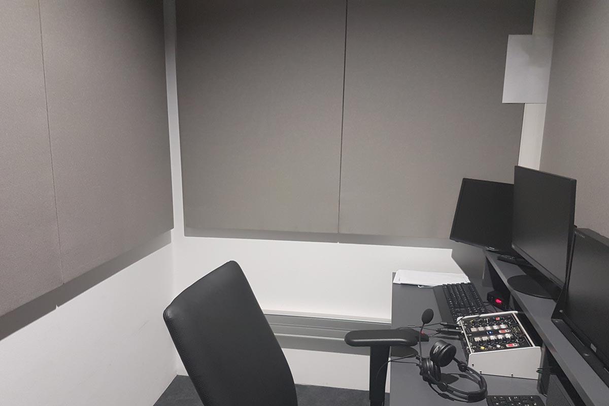 ηχομόνωση στούντιο μίξης