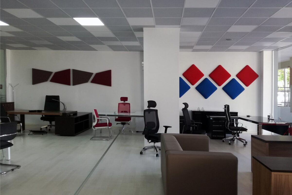 office with acoustic panels