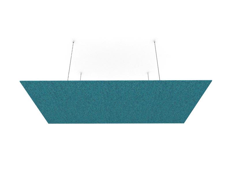 rectangular woollen cloud blue