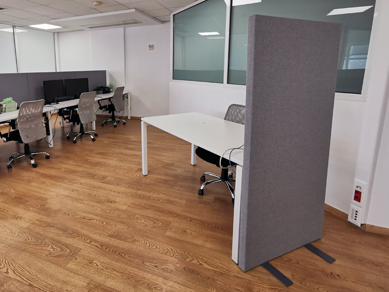 free standing acoustic partition gobo