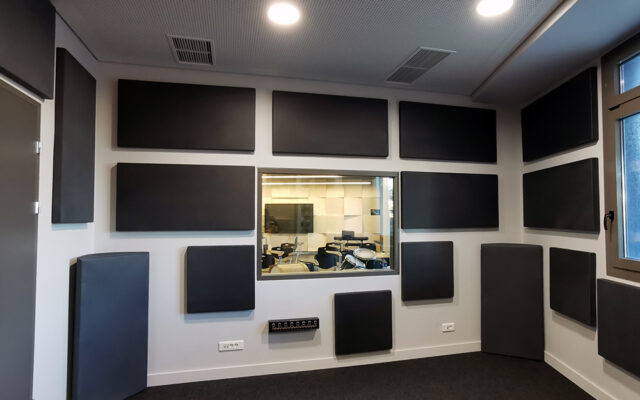 alphacoustic acoustic panels in studio