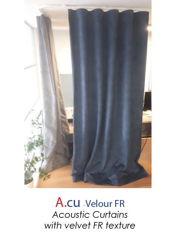 acoustic curtain velvet texture