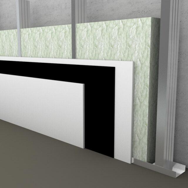 polyester fiber slabs insulation gypsumwall